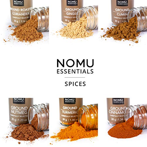 NOMU 24-Piece Starter Variety Set of Spices, Herbs, Chilis, Salts and Seasoning Blends Kit | 24.1 Oz | Non-irradiated… Salted Salad