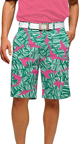Loudmouth Golf Men's Banana Beach Shorts Pink Shorts