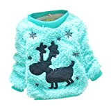Product review for LOSORN ZPY Infant Baby Girl Christmas Dear Cotton-padded Fuzzy Sweater Candy Color