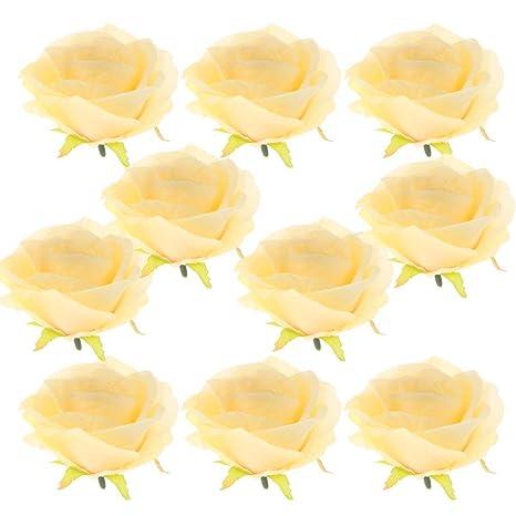 Amazon Kodoria 10pcs Artificial Rose Heads Silk Flowers Vintage
