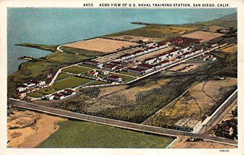 Postcard Aerial View U.S. Naval Training Station in San Diego, California~121838