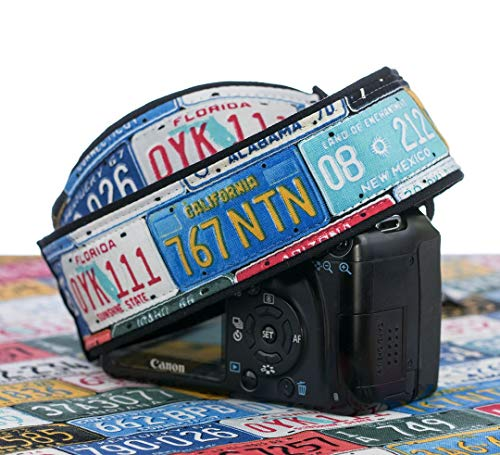 (License Plate Camera Strap, Cotton, dSLR, SLR, Mirrorless, 167)