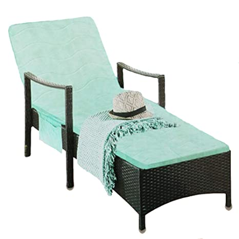 RANRANHOME Cojín de Chaise Lounge Verde para Interior ...