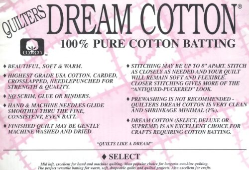 Quilter's Dream Cotton Batting - Natural Select-Mid Loft-Twin