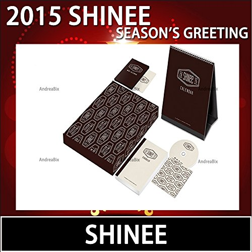 SHINEE 2015 Season Greeting with Desk Calendar /mini Calendar Scheduler /Making DVD [ Book sale now (released in Korea in mid-December)