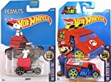 Hot Wheels Super Mario Cool One HW Screen Time & Snoopy Dog House #59 Peanuts Tooned car set