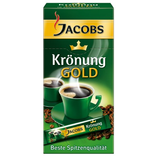 Jacobs Kronung Gold Instant Coffee Sticks 10 X 1 Cup Servings
