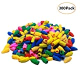 Yizeda 300 Pack Pencil Erasers Assorted Colors,Pencil Top Eraser Caps,School Eraser Caps For Kids