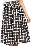 Sakkas Mahina Wax Print Polka Dot Full Circle Elastic Waist Midi Skirt
