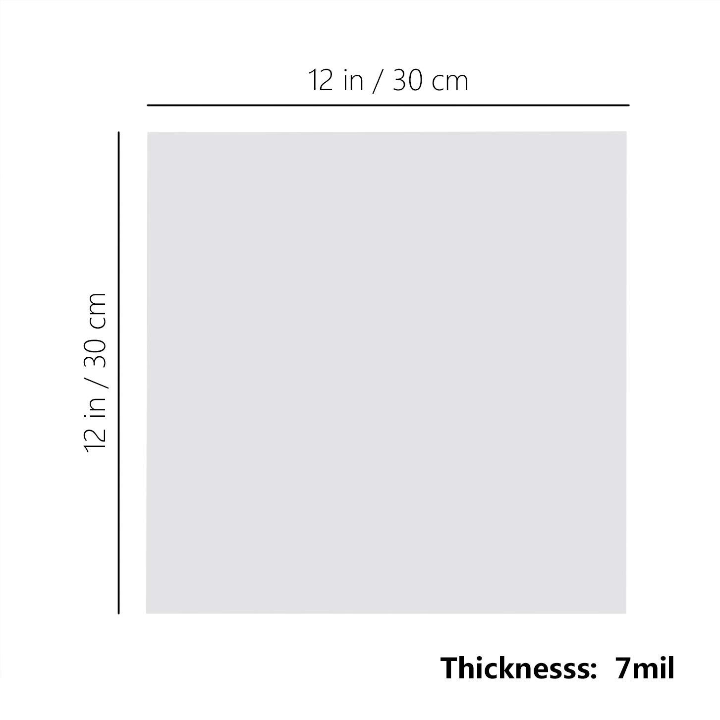 ATPWONZ 10Pcs Blank Stencil Sheets 12 x 12 inch 7 Mil Thickness Square Stencil Paper for Cricut Silhouette Machines