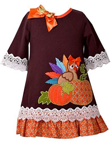 Toddler Girl Boutiques - Bonnie Jean Girls Turkey Pumpkin Appliqued