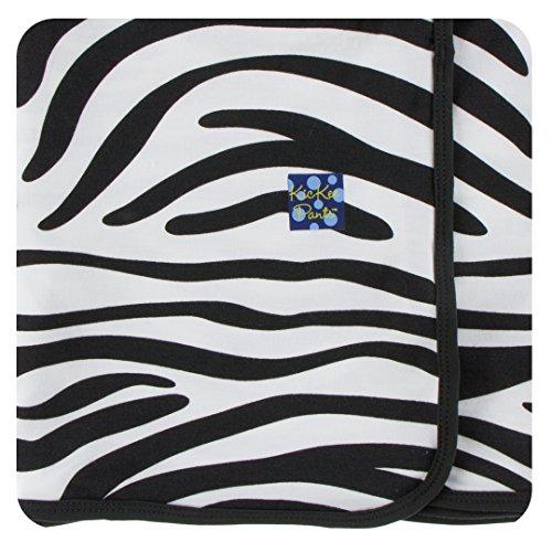 Print Zebra Blanket Receiving - Kickee Pants Little Girls Print Swaddling Blanket - Natural Zebra Print, One Size