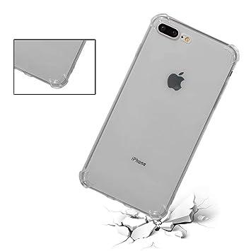 ZRICKIE Funda iPhone 7 Plus/iPhone 8 Plus Carcasa Silicona ...