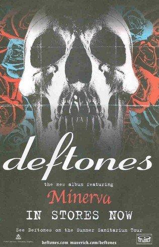 - Deftones: Minerva: Skull & Roses: Great Original Photo Print Ad!