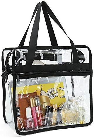 Bolsa transparente con bolsillos con cremallera y correa para el hombro desmontable: Amazon.es: Hogar