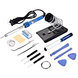 iPartsBuy HH301 14 in 1 30W 110V Electric Soldering Tools Set With Iron Stand Desolder Pump