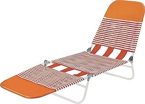 Beau Worldwide Sourcing S65002 O Pvc Folding Lounge, Orange