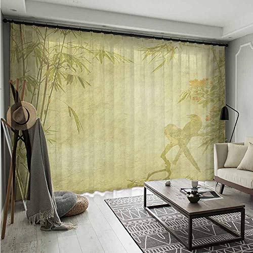 Bluemat Green Long Sheer Voile Panels Drapes W 120