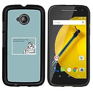 Queen Pattern - FOR Motorola Moto E 2nd Generation - internet addiction quote funny computer man - Cubierta del caso de impacto con el patr???¡¯???€????€??&