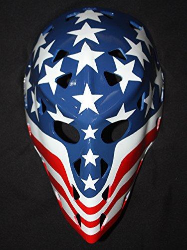 [1:1 Custom Vintage Fiberglass Roller NHL Ice Hockey Goalie Mask Helmet bernie wolfe HO28] (Hockey Mask For Sale)