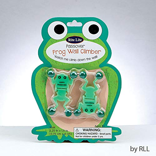Passover Green Frog Wall Climber Toy for Kids