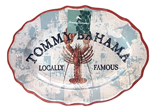 tommy-bahama-lobster-print-oval-melamine-serving-platter