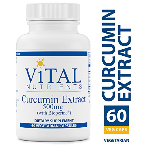 Vital Nutrients - Curcumin Extract 500 mg (with Bioperine) - Nutritional Support for Normal Tissue Health - 60 Capsules per Bottle