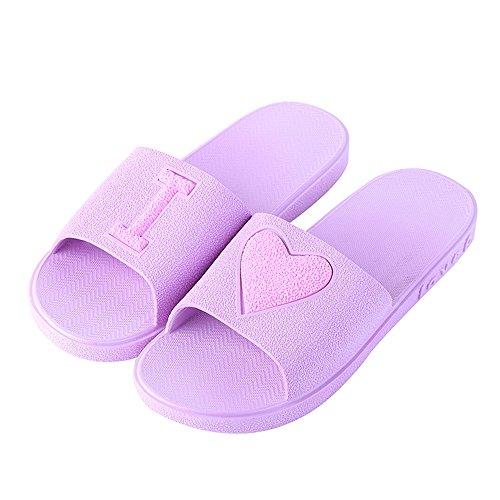 Amoureux Eizur Antidérapant Piscine Unisexe Chaussures Femmes Bain Pantoufle Violet Plage Chaussons Salle Douche Hommes Pour Pantoufles Maison De Sandales Eté Les I1IrAnq