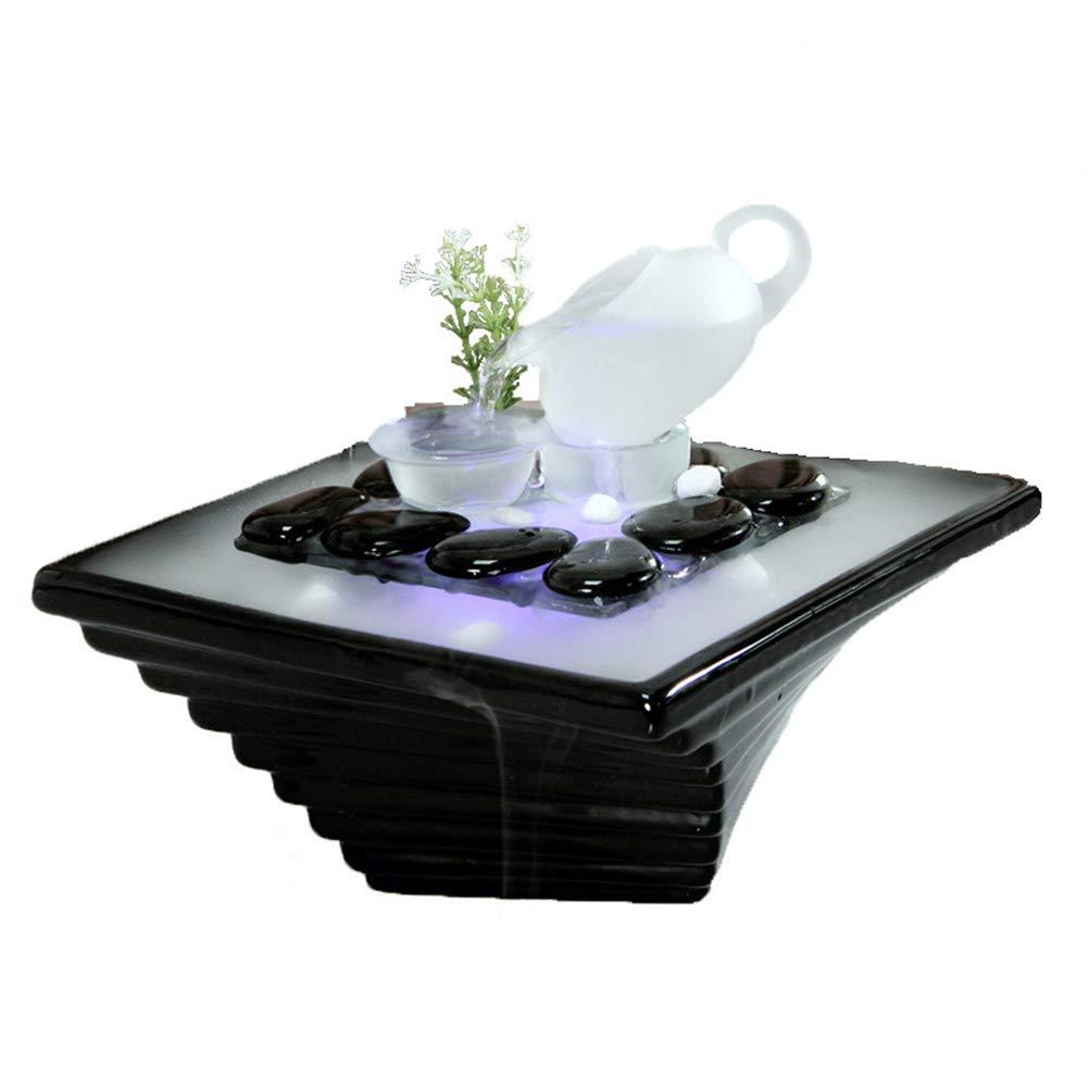 ー品販売  エッセンシャルオイルディフューザー空気加湿器セラミッククラフトクリエイティブホームデスクトップ装飾アロマセラピー絶妙なギフト,Black Black Black B07NQHMNQ6 B07NQHMNQ6, アースワードpc-shop:8308ef3e --- martinemoeykens.com