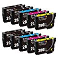 E-Z Ink Remanufactured Ink Cartridge Replacement for Epson 200XL 200 XL T200XL Compatible with Epson XP-200 XP-300 XP-310 XP-400 XP-410 WF-2520 WF-2530 WF-2540 (4 Black, 2 Cyan, 2 Magenta, 2 Yellow)