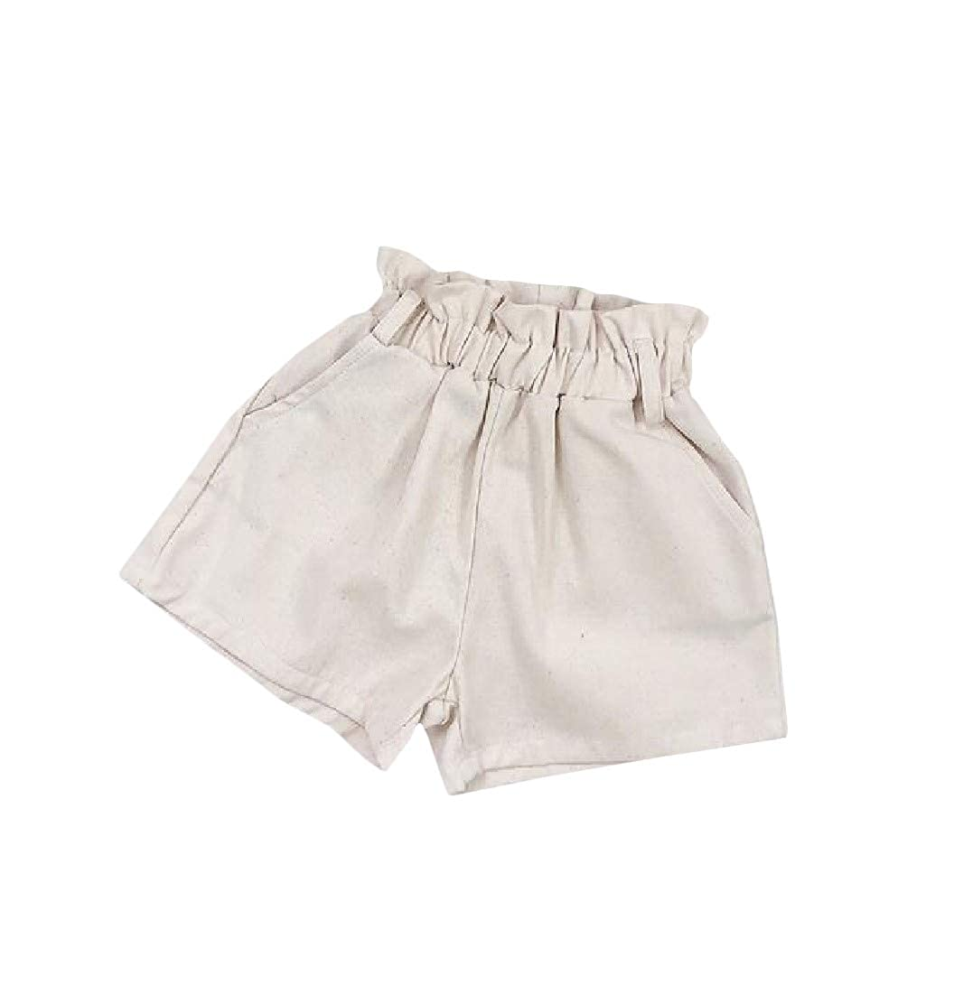 Adriat Girls Solid Washed Cotton Cute Loose Short