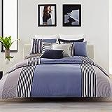 Lacoste Meribel F/Q Duvet Set Q, Full/Queen, Blue/White