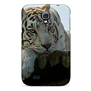 HnsTbsy7320hLUkF Faddish Sad White Tiger Case Cover For Galaxy S4