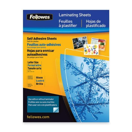 Fellowes Self-Adhesive Sheets, Letter Size, 3 mil, 50 Pack (5221502) Style: 3 mil Size: 50 Pack Portable Consumer Electronics Home Gadget by Portable & Gadgets