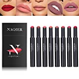 Matte Lipstick Set, NAQIER 8PCS Nude Moisturizer Smooth Lip Stick, Waterproof liquid lipstick mate Make up Velvet lip gloss