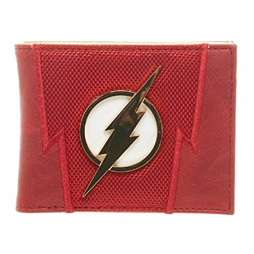 DC COMICS Flash Metal Badge Logo Bi-Fold Gift Boxed Wallet NEW BioWorld MW3YYKDCO