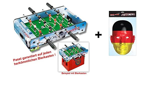 Cerveza Buzón de futbolín como práctica – Fregadero en cajones de cerveza y mesa – Fregadero + Máscara de bandera de Alemania: Amazon.es: Deportes y aire libre
