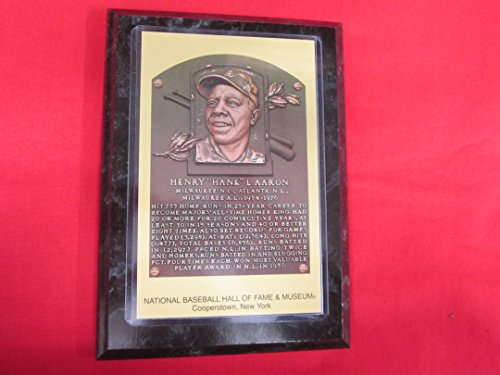 Hall Of Fame Plaque - Hank Aaron 1982 Hall of Fame Induction Postcard Plaque NEW!!