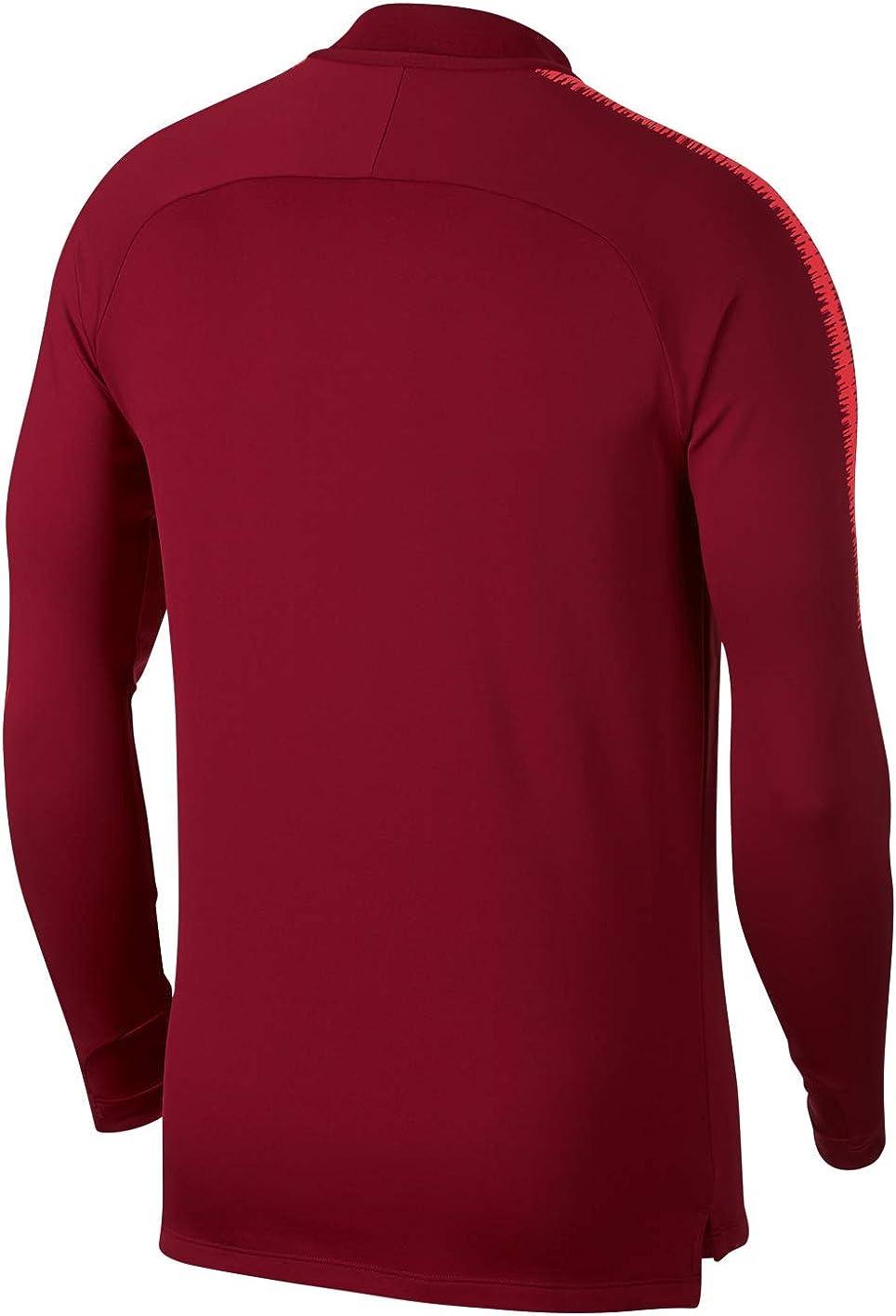 Nike Herren Langarm Trikot Dri-fit Squad Drill Team Red/Light Crimson