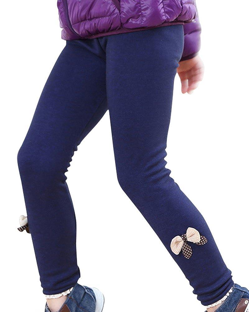ZhuiKun Bambini Stampa Leggings Pantalone Ragazze Caldo Pantaloni Leggins