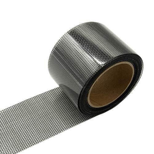 Screen Patch Repair Kit, (2Wx140L) Patch, Door Window Screen Repair Tape Fiberglass Covering Mesh, 3-Layer Strong Adhesive & Waterproof Repair Holes Tears, Black
