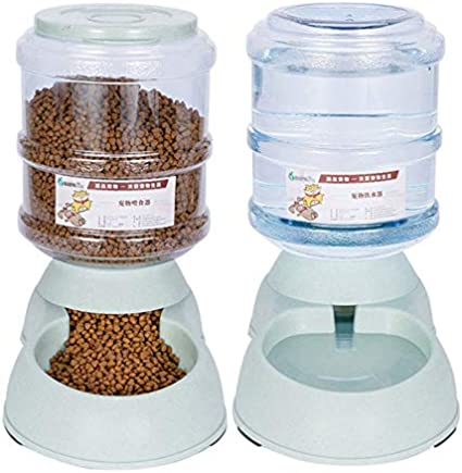 Comederos Automáticos de Alimentos, 3.75L Fuente de Agua Automática para Perros Gatos y Mascotas, Cuenco Accesorio Dispensador para Mascotas: Amazon.es: Hogar