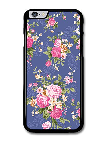 Vintage Floral Print Victorian Wallpaper on Cool Blue case for iPhone 6 Plus 6S Plus