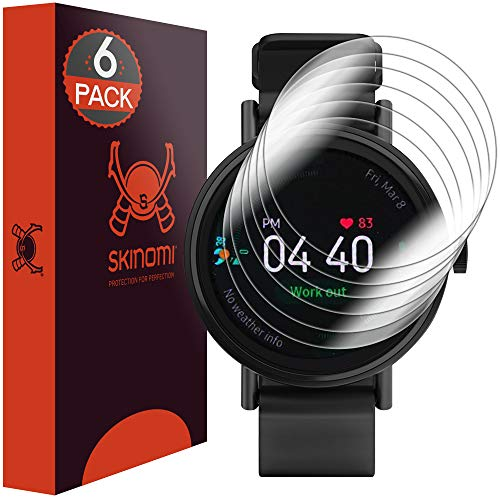 Skinomi TechSkin [6-Pack] Clear Screen Protector for Samsung Galaxy Watch Active (40mm) [Full Coverage] Anti-Bubble HD TPU Film
