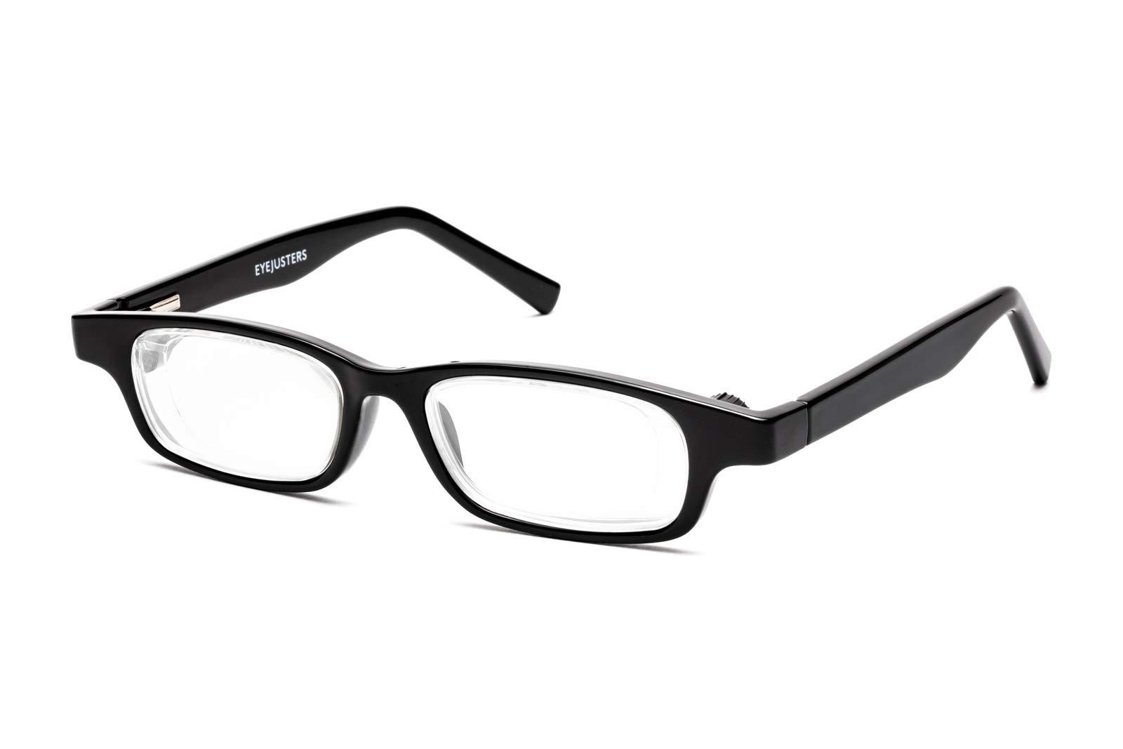 Eyejusters Self-Adjustable Glasses, Oxford Edition, Black