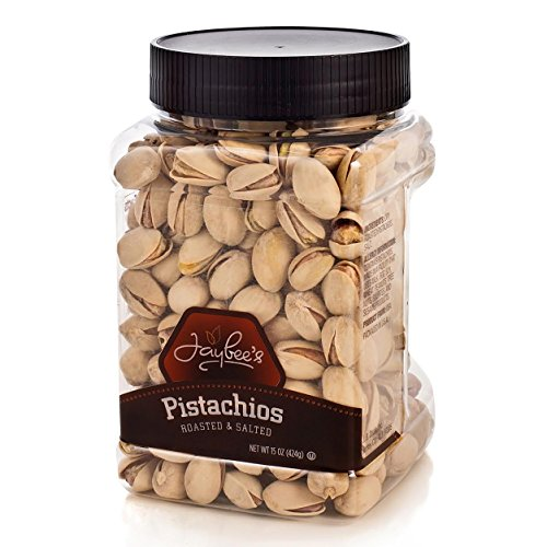 Jaybee's Pistachio Nuts In Shell (15oz) - Fresh Nuts - Dry Roasted - Salted Tasty and Delicious - Great Holiday, Birthday, Get Well Gift