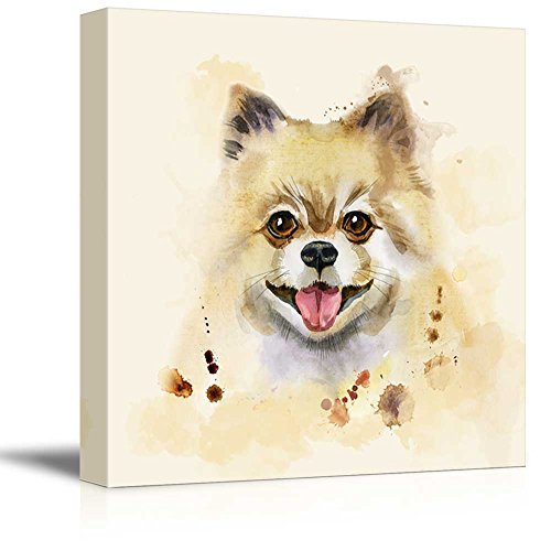 Square Dog Series Watercolor Style Cute Dog