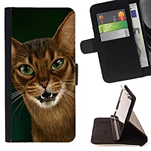 Momo Phone Case / Flip Funda de Cuero Case Cover - Cornish Rex Abisinia Ocicat; - Apple Iphone 5 / 5S