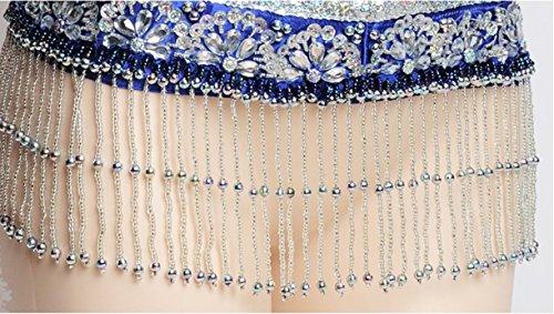 Reggiseno Di Perline Per Professionale Donne Frangia Rose Cintura Danza Vestito Manicotto S Collare Tuta Colori Più Wqwlf l Braccio Con Ventre Del ZY8xgEqnf