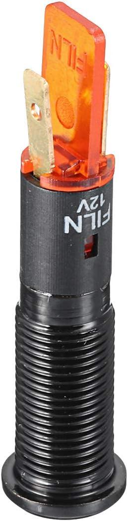 012 C-FUNN 12V 24V 36V 8Mm Led Indicador De Metal Se/ñal De Advertencia L/ámpara De Luz del Tablero S/ímbolo del Carro del Autom/óvil